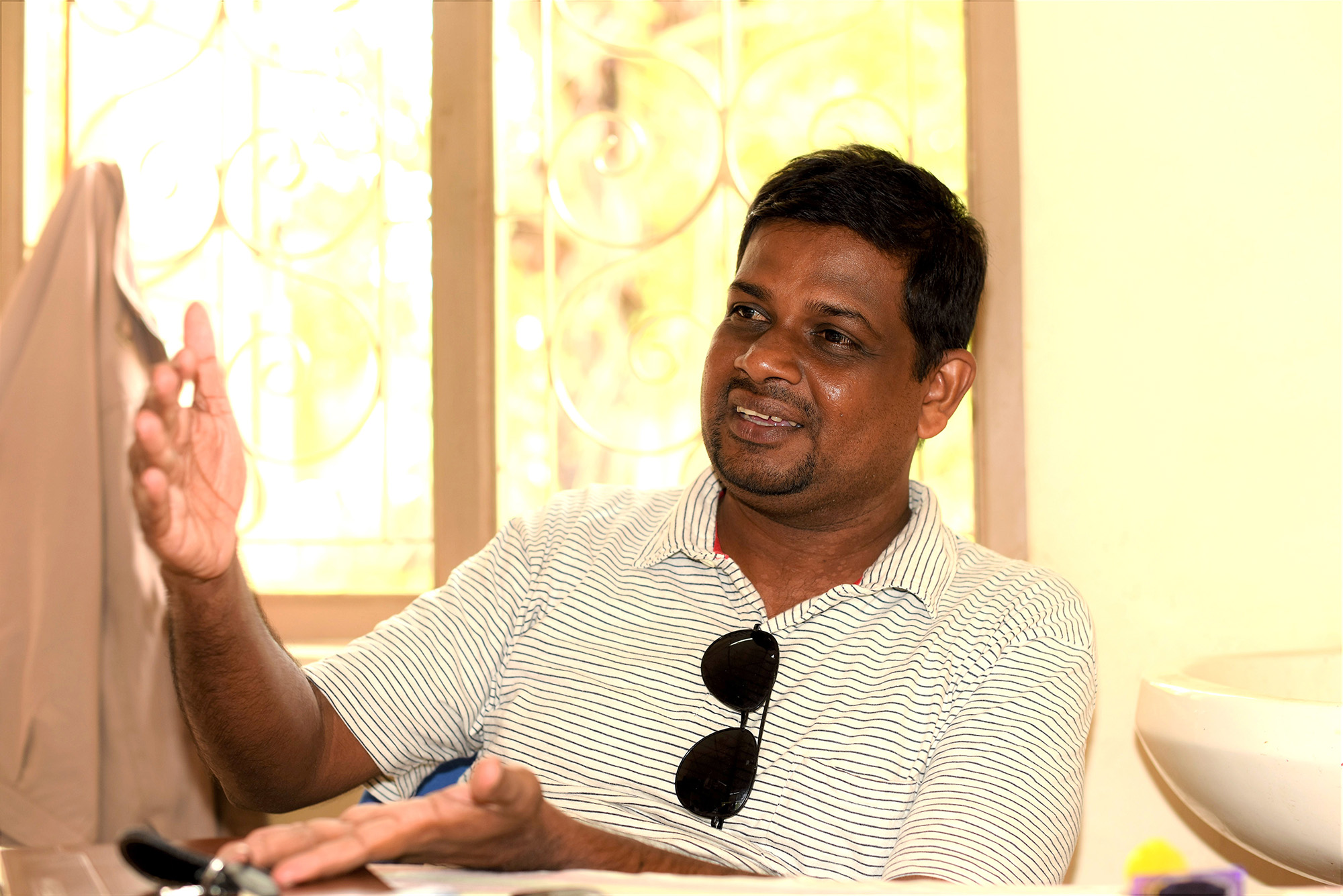 According to Kandaiah Karuanakaran, Agricultural Instructor for Mandawatthadi, The AIB is severely understaffed and lacks resources to serve the farmers in the area. Photo: Nipuna Kumbalathara, Oxfam