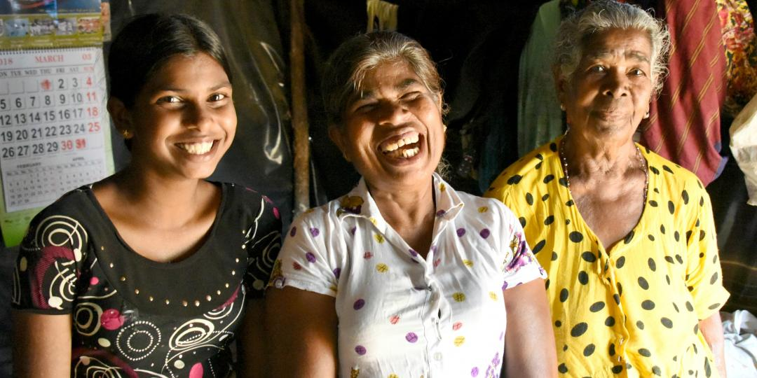 Daughter, mother and grandmother in camps in Ratnapura